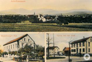 Ansichtskarte von Adelhausen um 1920