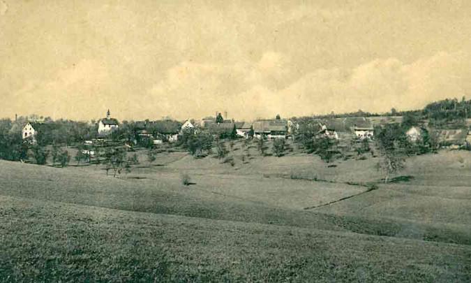 Blick auf Nordschwaben um 1900