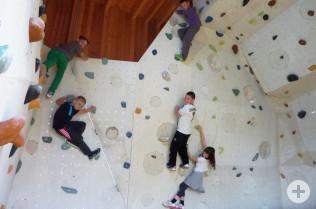 Viel Spaß hatten die Kids beim Klettern.