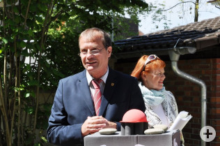 Oberbürgermeister Klaus Eberhardt und Cornelia Rösner