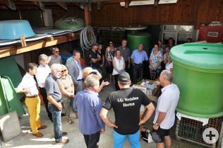 Bei der IG Weinbau Herten im Haus Rabenfels
