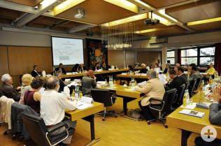 Besprechung im Rheinfelder Rathaus