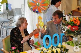 Martha Grether und Oberbürgermeister Klaus Eberhardt
