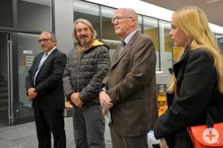 Klaus Schäuble, Jaques Crevel, Bürgermeister Rolf Karrer und Katrin Hundorf