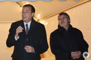 Oberbürgermeister Klaus Eberhardt und Joachim Kruse