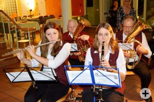 Stimmungsvolle Musik machte die Bläsergruppe des Musikvereins Nollingen.