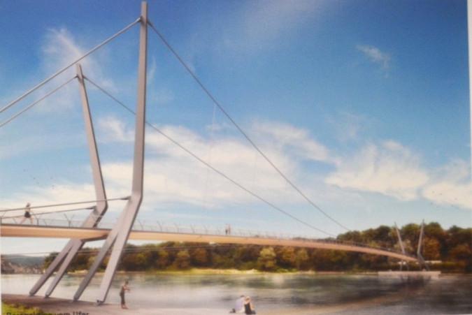 Auf dem Steg mit Blick auf das badische Ufer ©Render-Manufaktur