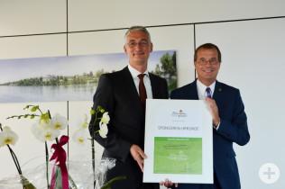 Peter Dettelmann und Oberbürgermeister Klaus Eberhardt