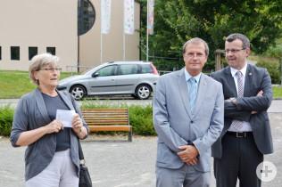 Brunette Lüscher mit Klaus Eberhardt und Franco Mazzi