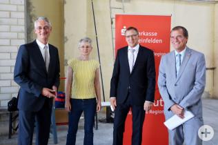 Peter Dettelmann, Ruth Loibl, André Marker und Oberbürgermeister Klaus Eberhardt