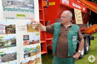 Ewald Lützelschwab stellte die Arbeit in einer Kompostieranlage vor.